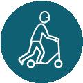 Mobilité douce - Absence de voitures sur site